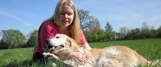 Kirsty and golden retriever